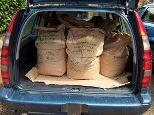 Free compost for Caldecote residents compliments of South Cambs District Council