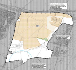 Bourn Airfield modification to site boundary