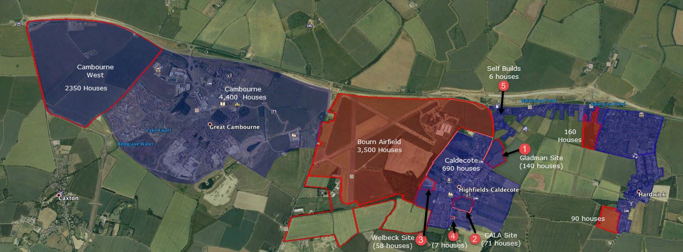 Growth of Highfields Caldecote in next decade